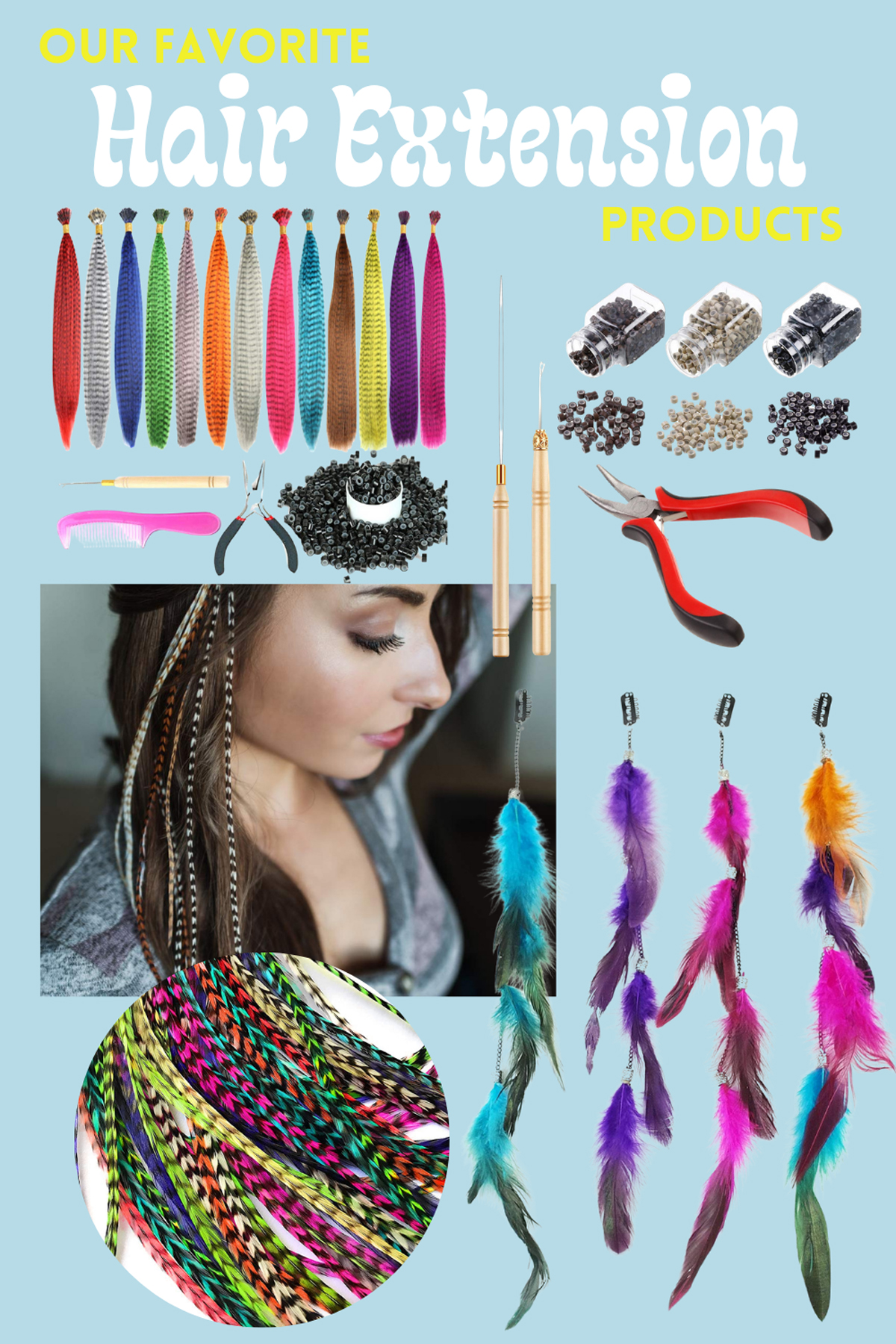 Feather Hair Extension Products