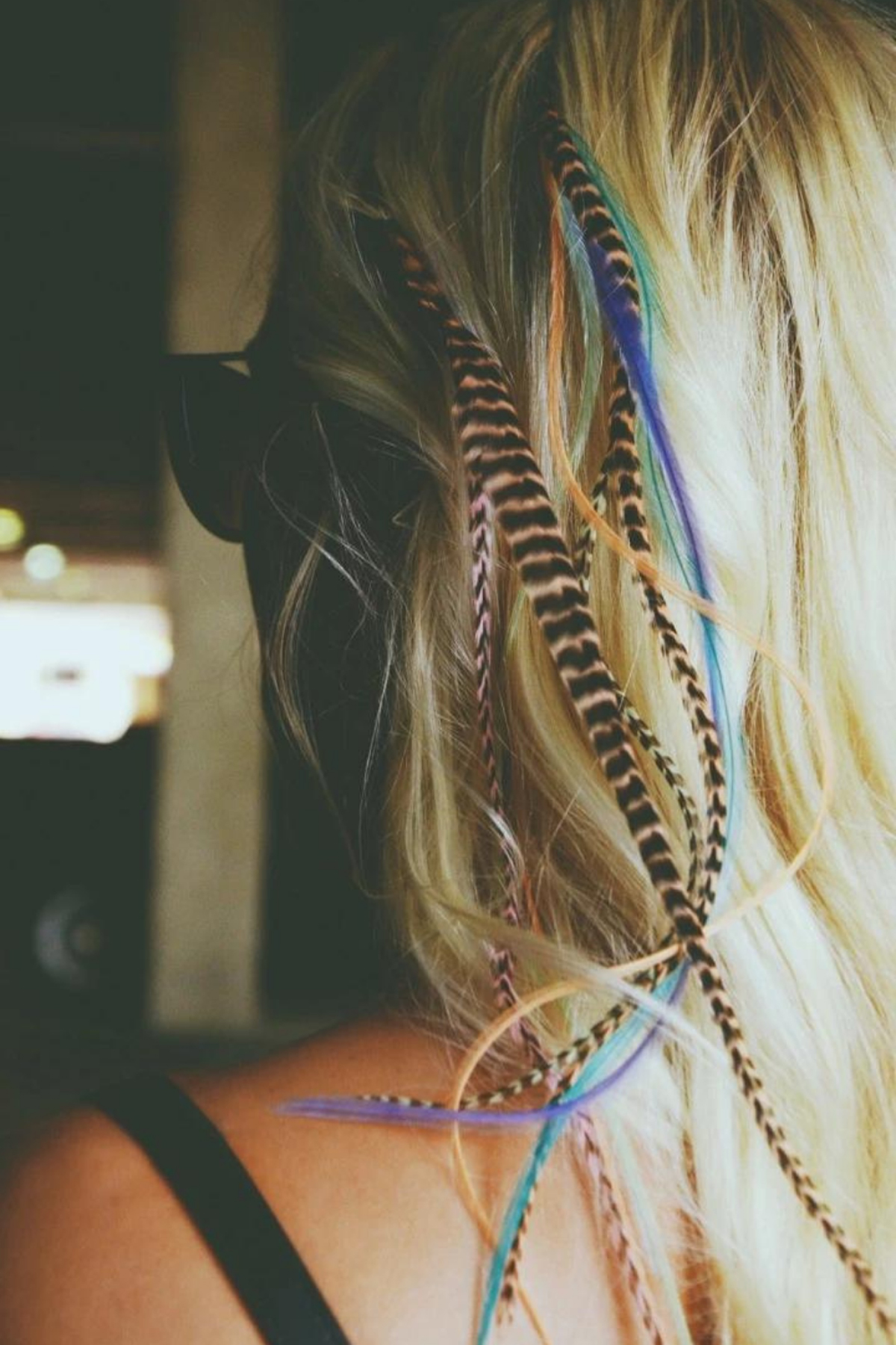 Teen Hair Trends How to make hair feathers work