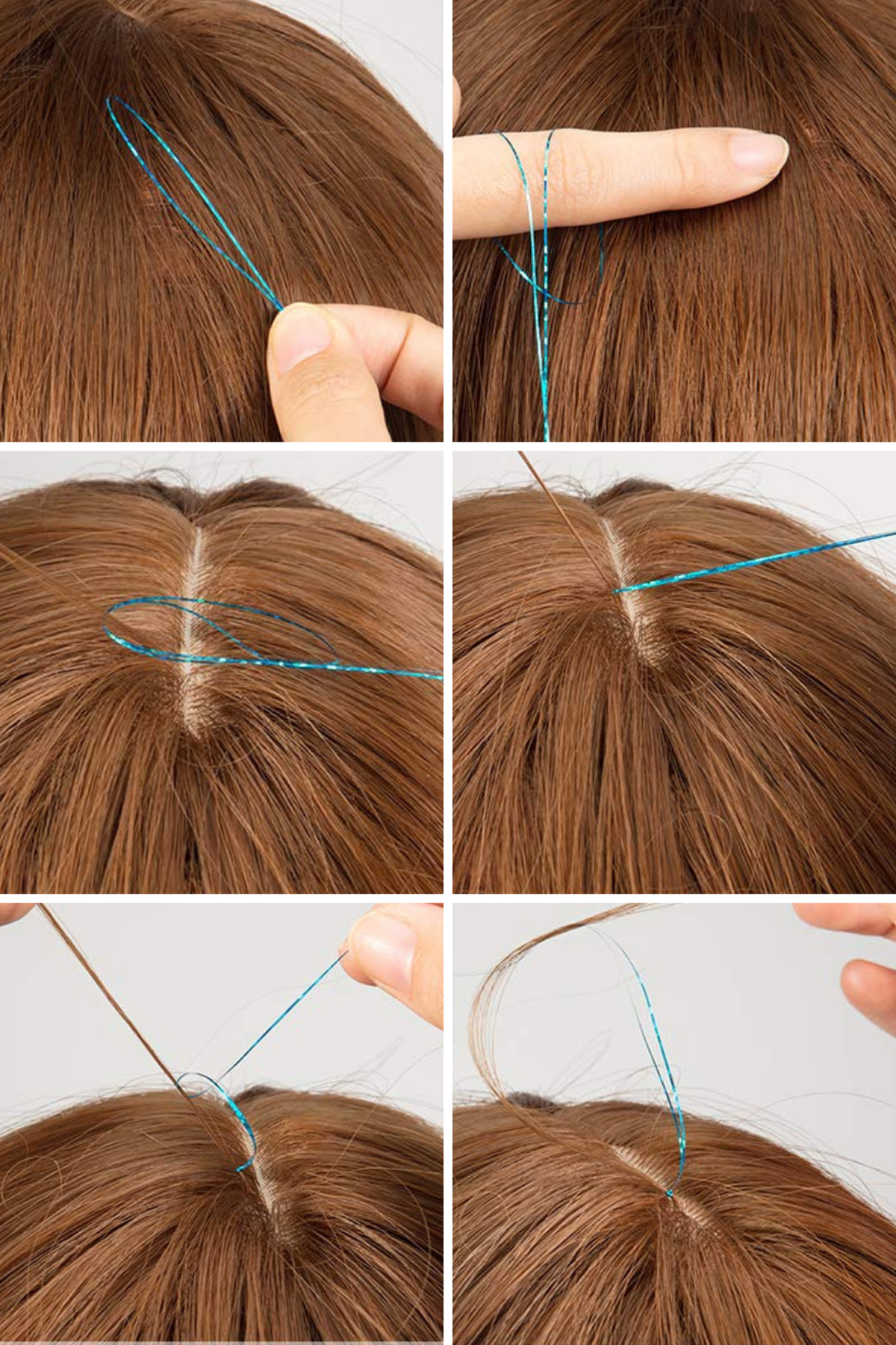 How to Put In Tinsel Hair Extensions