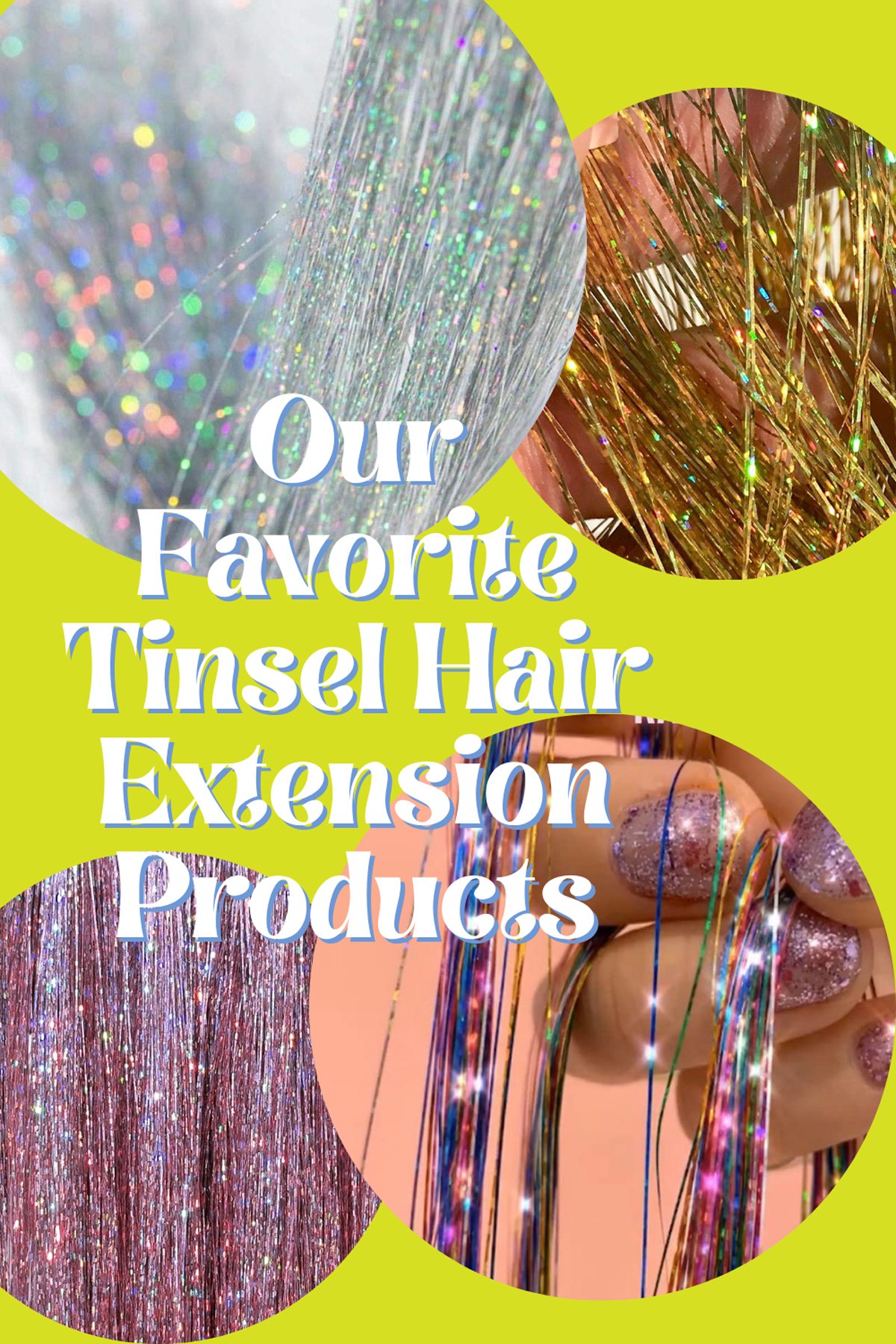Silk Tinsel Hair Extensions Products