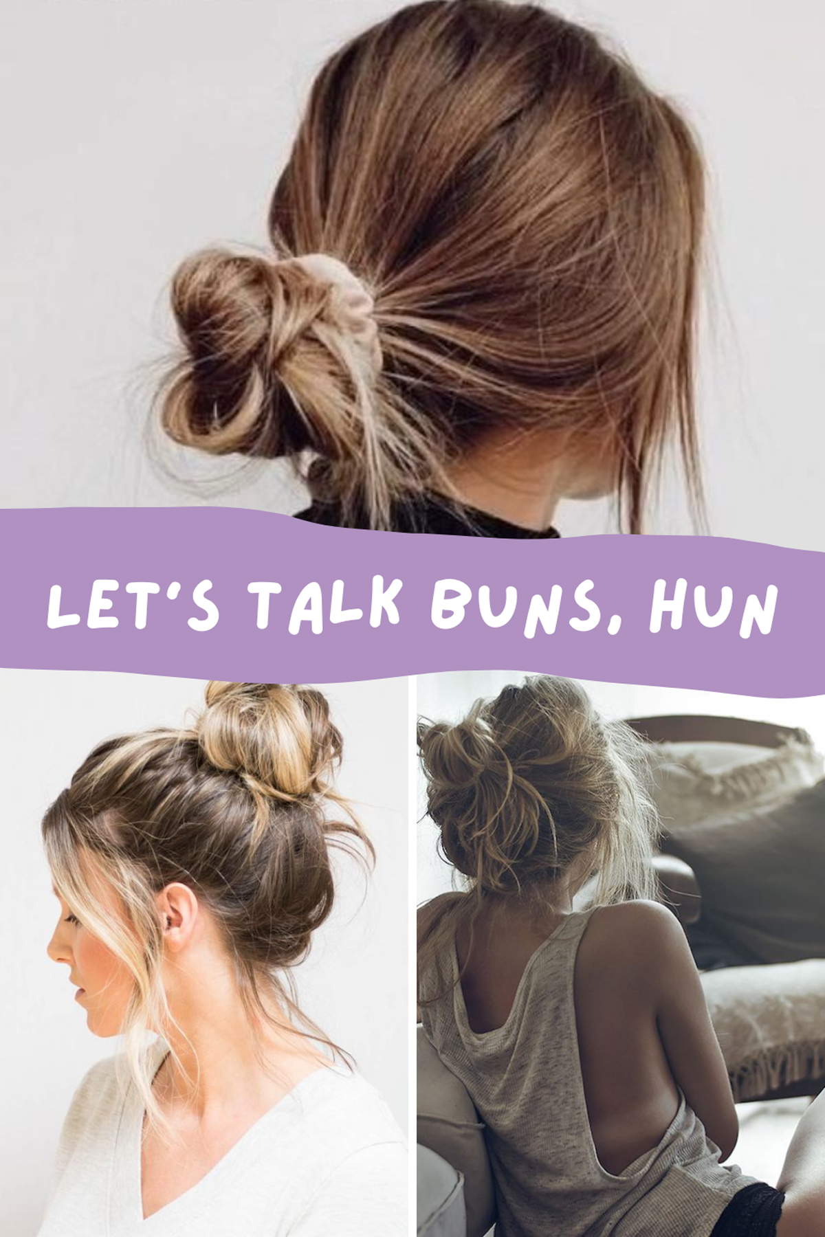 Messy bun easy hairstyles for teens