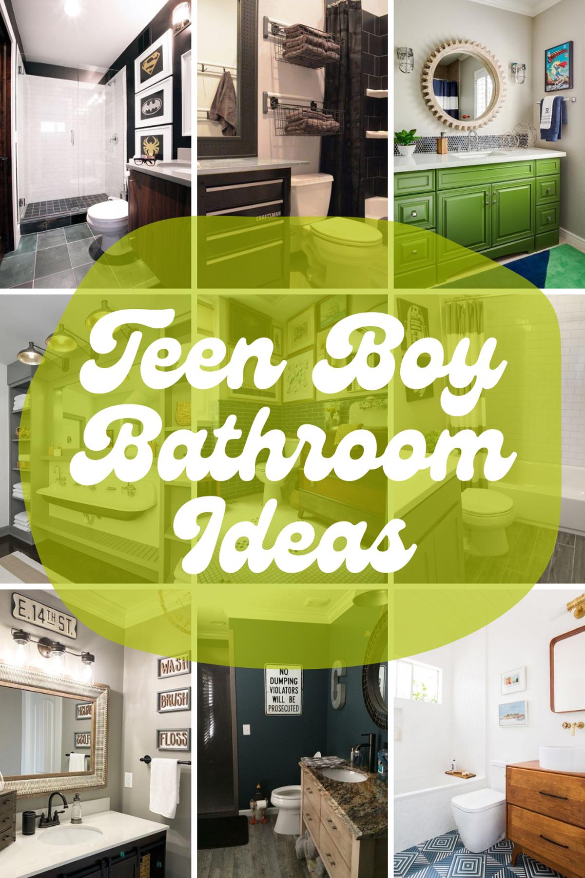 Teen Boy Bathroom Ideas
